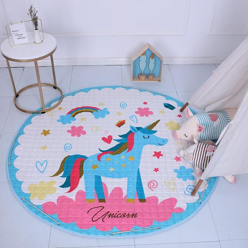 Kid Soft Carpet Rugs Cartoon Animals Fox Baby Play Mats Baby Crawling Blanket