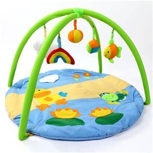 Tapis gonflables écologiques de gymnase de jeu de rampe de bébé avec des jouets