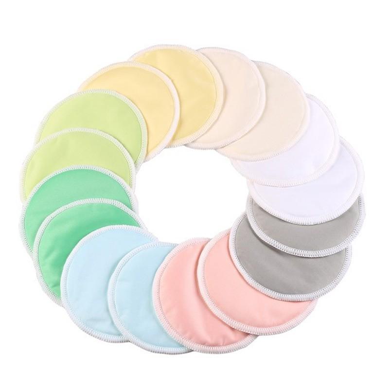 Almohadillas de alimentación con mejores ventas Almohadillas de lactancia lavables de bambú