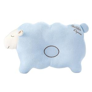 Baby Pillow for Newborn Organic Cotton Protection for Flat Head Syndrome Lamb Blue