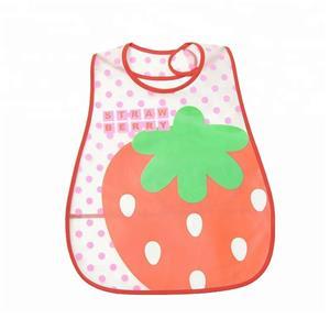 Fruit Print Eva Lovely Baby Bib With Food Pocket