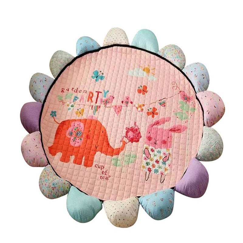 Korean Floral Padded Quilting Play Mats For Children
