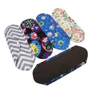 Women Menstrual Reusable Bamboo Cloth Sanitary Napkin Pads Washable