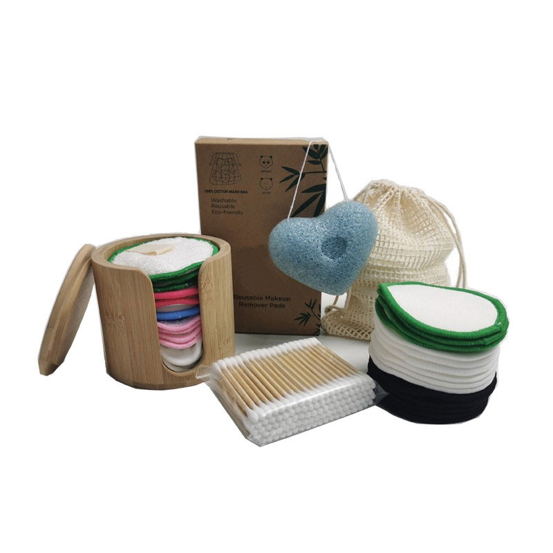 Desmaquillador reutilizable de la etiqueta privada del cuidado de piel al por mayor con el bolso del lavadero