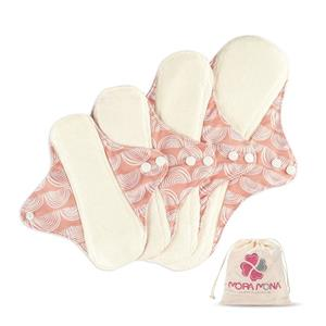 Bamboo Terry Cloth Menstrual Pads Heavy Flow Overnight Reusable Sanitary PadsB