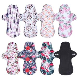 Heavy Flow Bamboo Charcoal Menstrual Cloth Pads Sanitary Pads Mama Pads