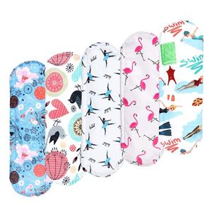 Bamboo Reusable Sanitary Pads with Stylish Pattern