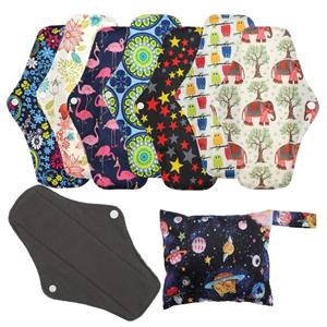 Reusable Menstrual Pads Bamboo Cloth Pads for Heavy Flow with Wet Bag