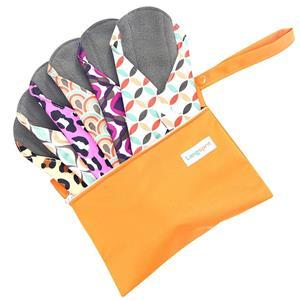 7pcs Set 1 pc Mini Wet Bag +6pcs Absorbent Reusable Sanitary Pads