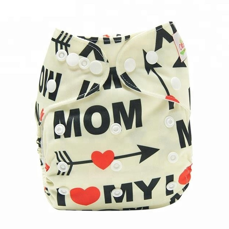 Printed Adjustable Washable Ecological Diapers