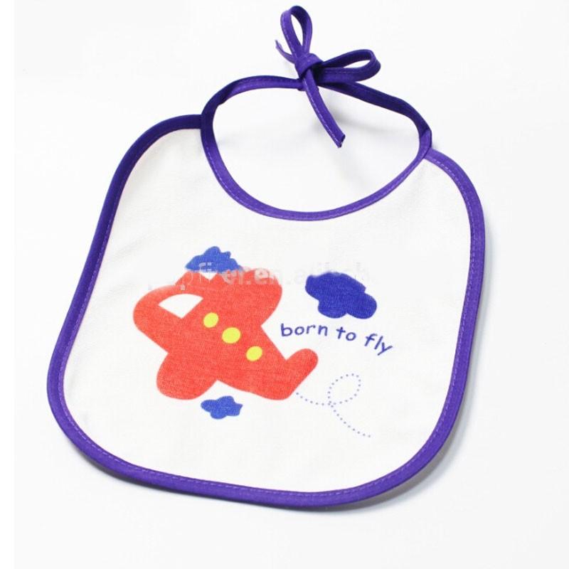 ओईएम सेवा मुद्रण के साथ बेबी बिब्स सादे सफेद