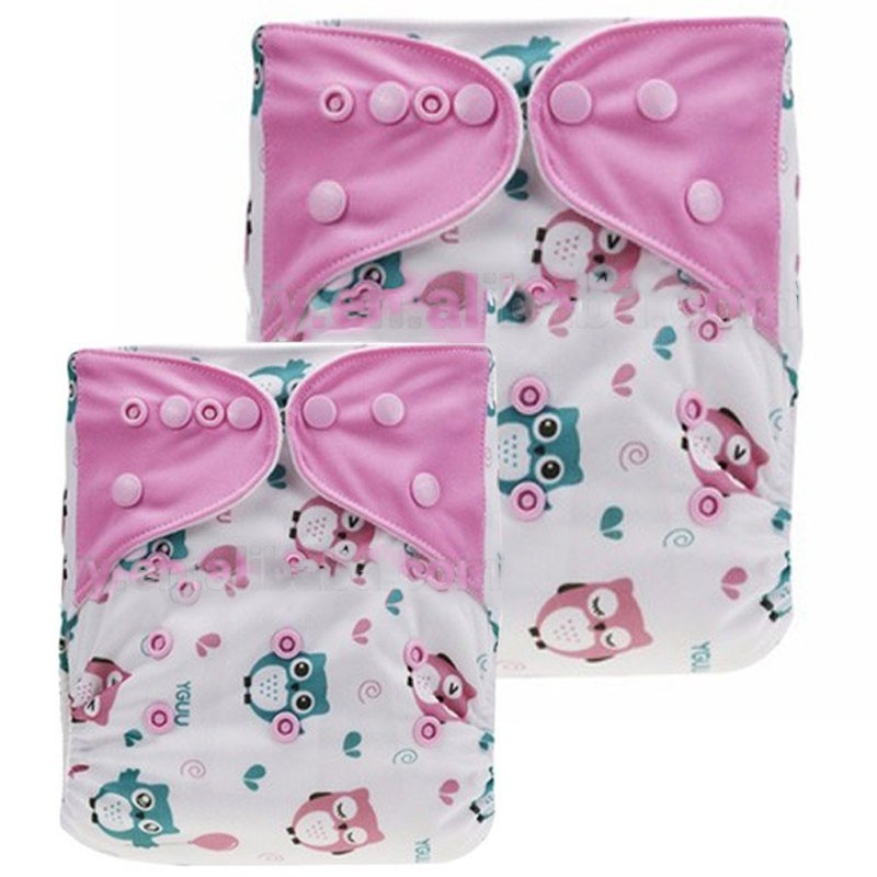 Cartoon Reusable Washable Fitted Baby Diapers Nappies