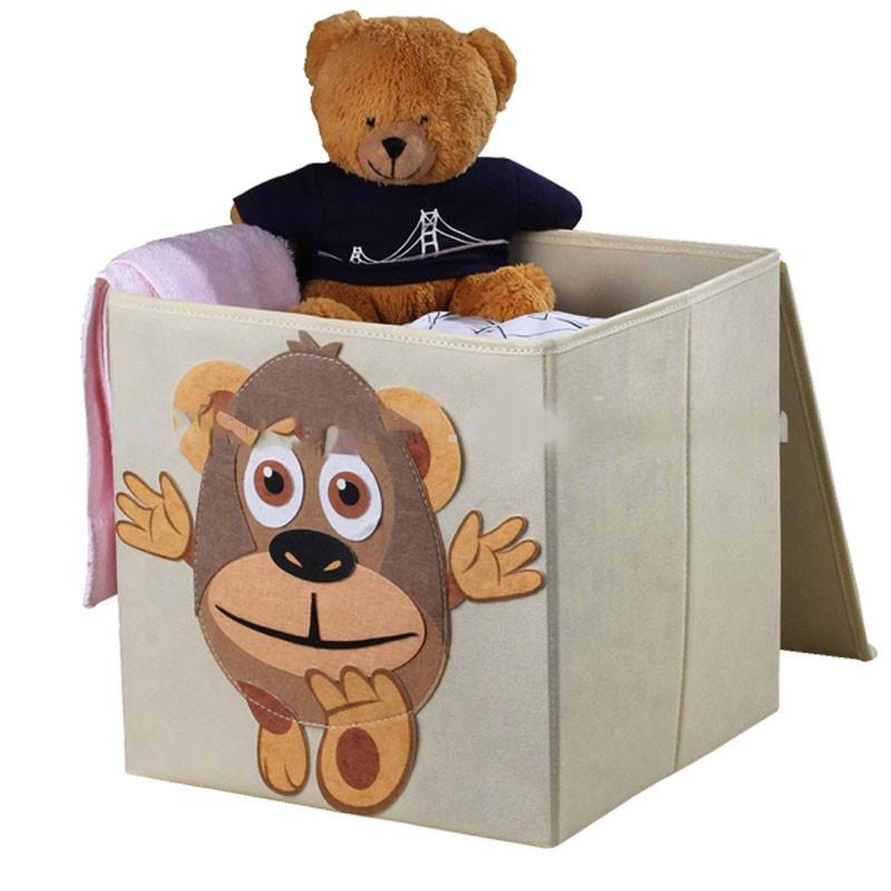 Foldable Kids' Toy Storage Bin Box - Cartoon Children Toys Chest and Closet Organizer