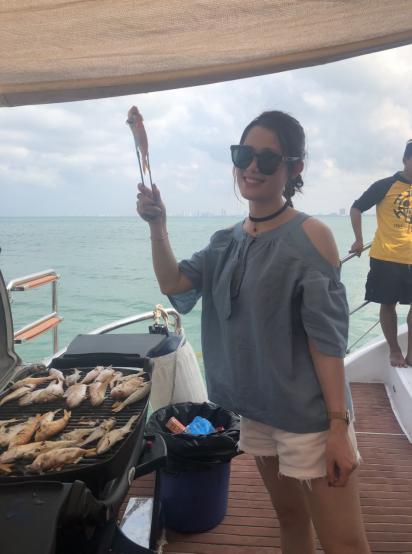 Jinhua IVY had a Tourism in Thailand