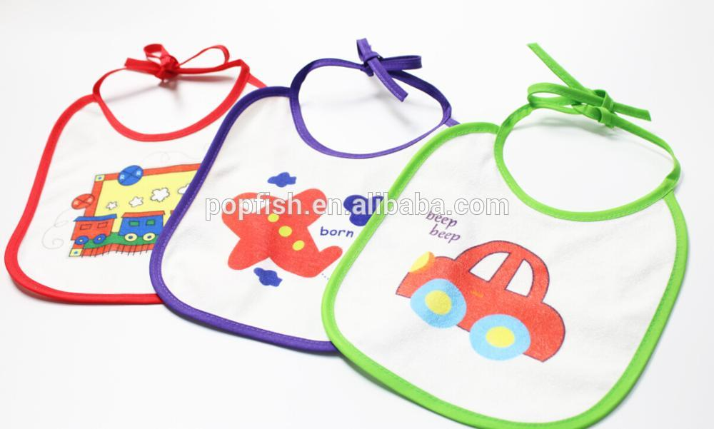 Baby bibs plain white with OEM service printing