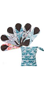 Sanitary Pad Reusable Washable Cloth Menstrual Pads