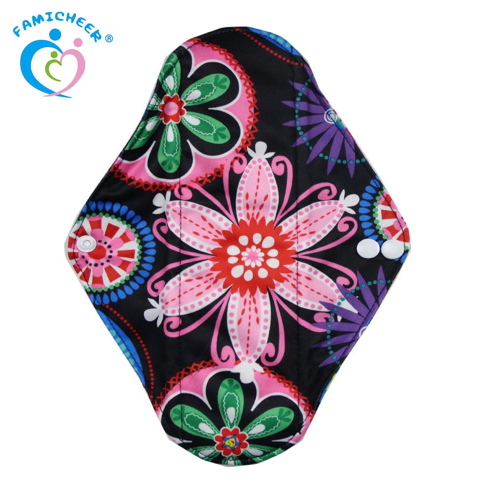 Reusable Washable Bamboo Cloth Menstrual Pads Sanitary Napkin For Women