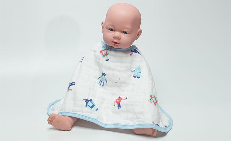 New Style Comfortable Cartoon Baby Burp Cloths
