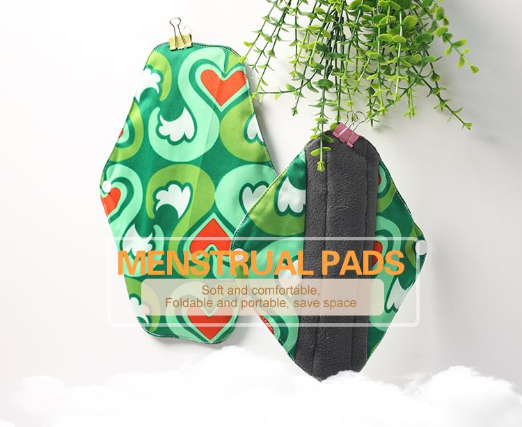 Washable Thin Organic Cotton Reusable Menstrual Pad