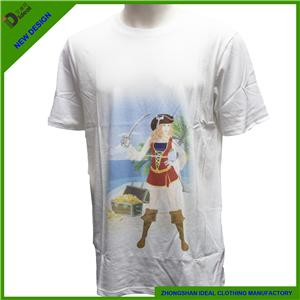 Cotton Short Sleeve Mens T-shirt