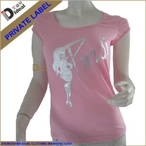 Ladies Short Sleeve Cotton Lycar T-shirt