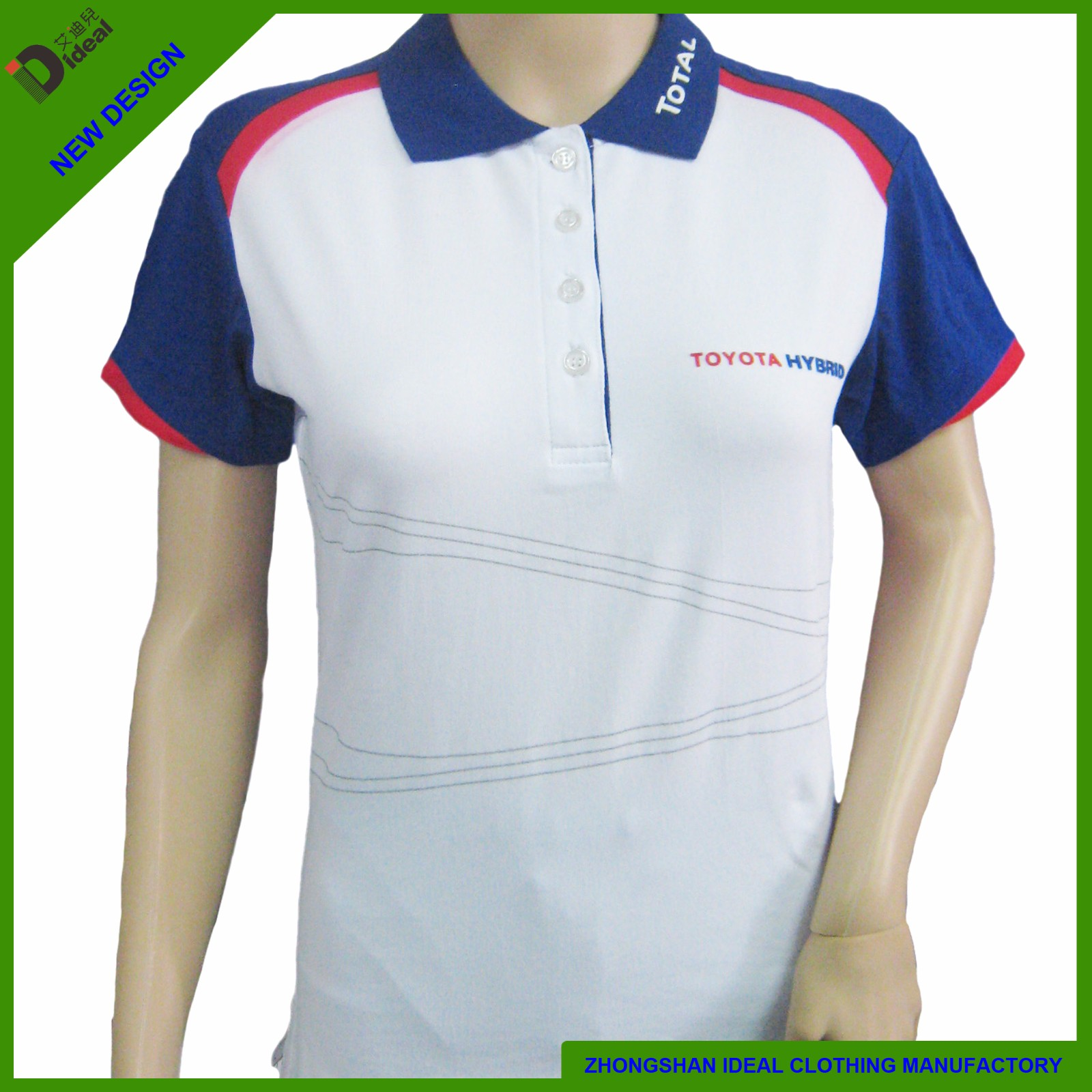 Ladies Short Sleeve Cotton Lycar Polo Shirt