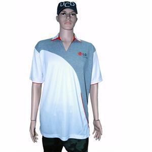Zipper-neck Cotton Pique Polo Shirt