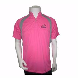 Zipper-neck Cool Dry Polo Shirt