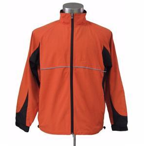Man Nylon Water-proof Full Zipper Reversible Jacket