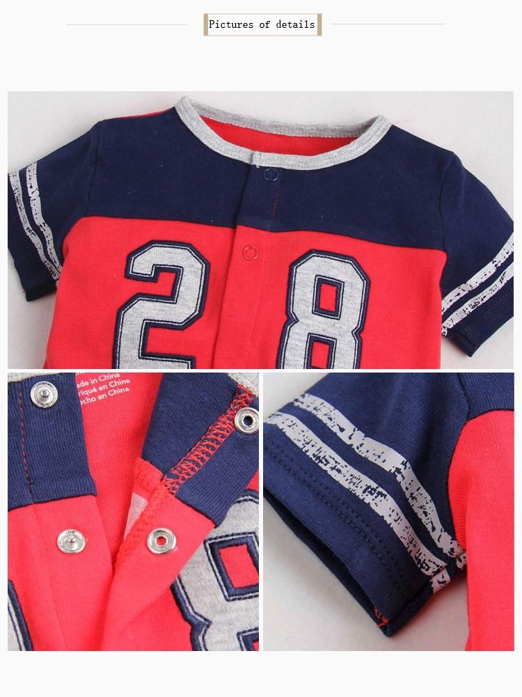 cotton kids short-sleeve jump suit