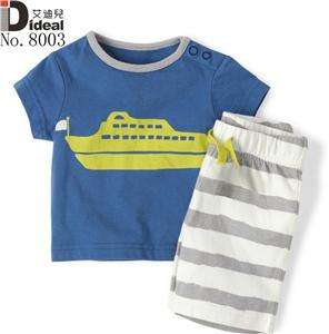 High quality 100%cotton kids twinset