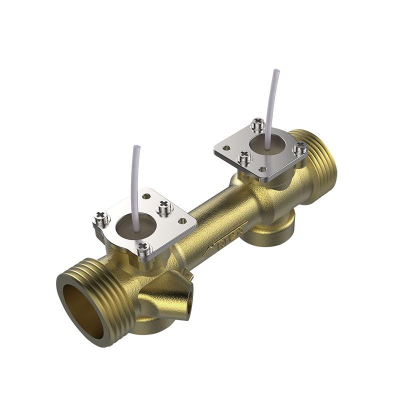 DN20真ちゅうパイプ付き超音波フローセンサー
