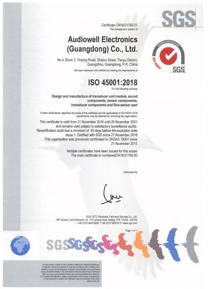 AUDIOWELL ISO 45001 CERTIFICATION.jpg