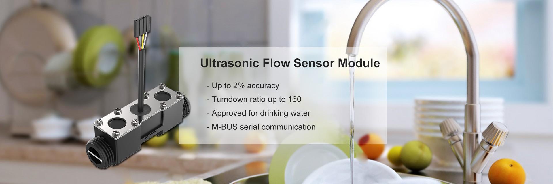 Modulul senzorului de debit cu ultrasunete