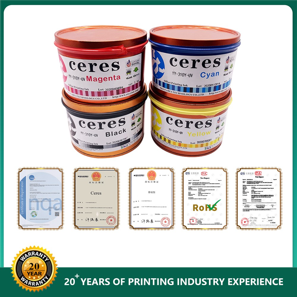 Ceres UV Inks For Offset Printing Machine