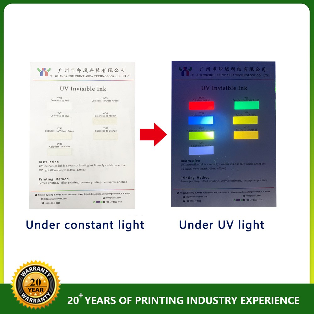 Security Ceres Offset Printing UV Invisible Ink