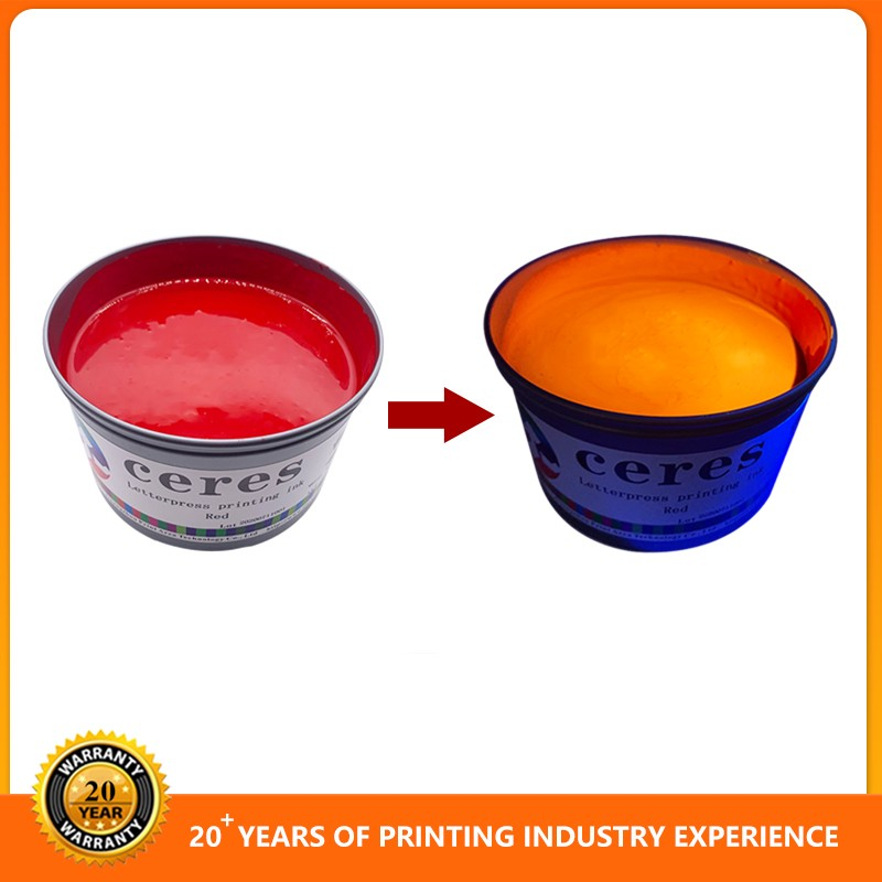 Screen and Offset Printing Red to Yellow UV invisible Ink