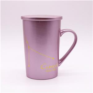 Spray Pearl Colored Ceramic Mugs With Coating