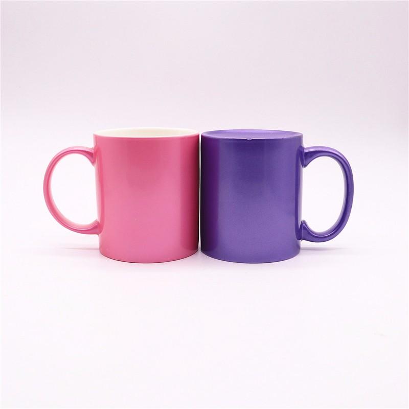Spray Pearl Color Ceramic Mugs
