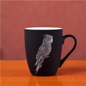 Soft Touch Surface Rubberized Coating Finish Ceramic Mug