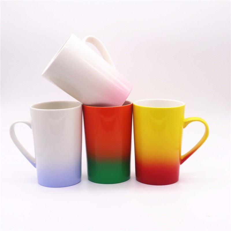 Multicolor Glitter Sublimation Ceramic Mugs
