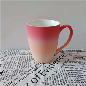 Tricolor Ceramic Spray Mugs