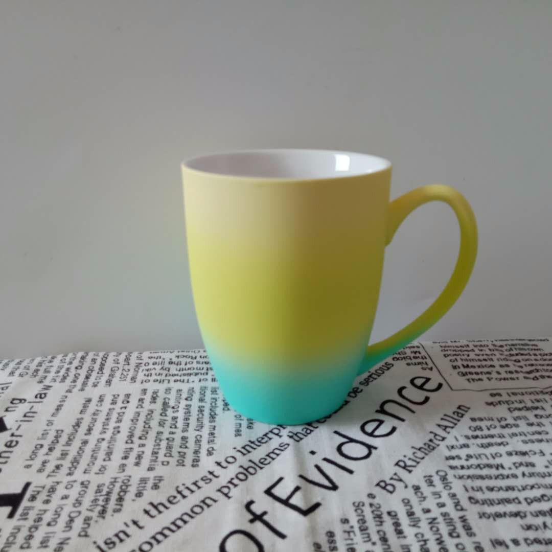 Tricolor Ceramic Spray Mugs Manufacturers, Tricolor Ceramic Spray Mugs Factory, Supply Tricolor Ceramic Spray Mugs