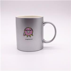 Matt Silver Spray Ceramic Cup