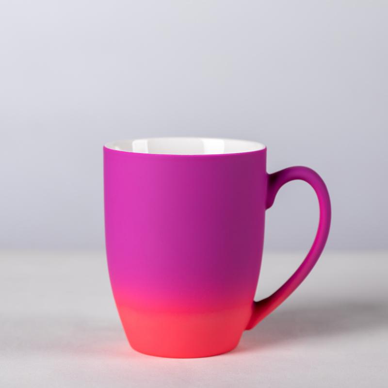 cryogenic gradinet color spray ceramic mugs