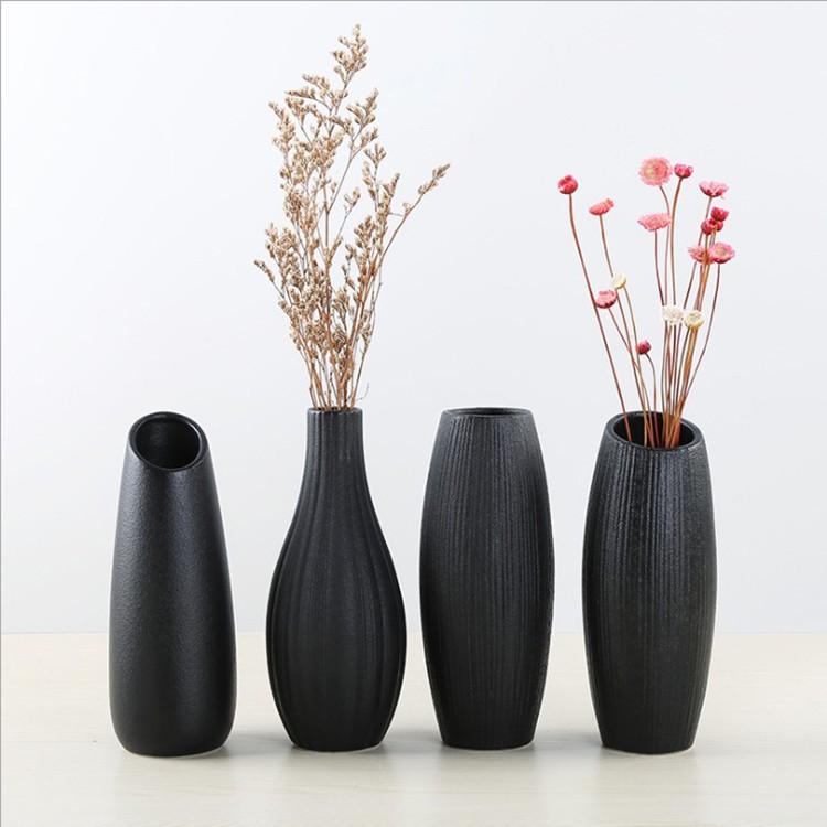 Black Ceramic Vase