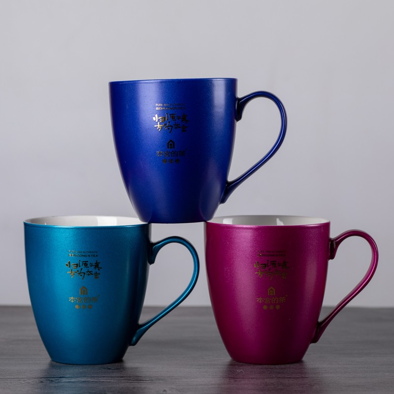 Grouting Techonology Solid Color Glazed Ceramic Mugs