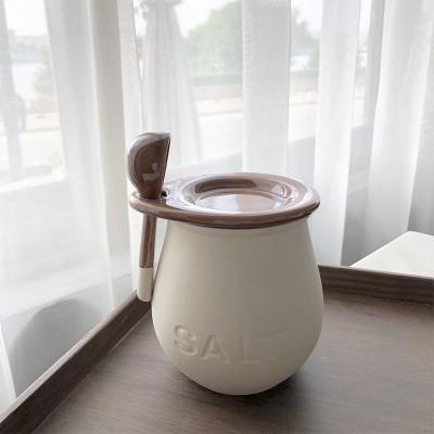 Small Pepper And Salt Ceramic Jar