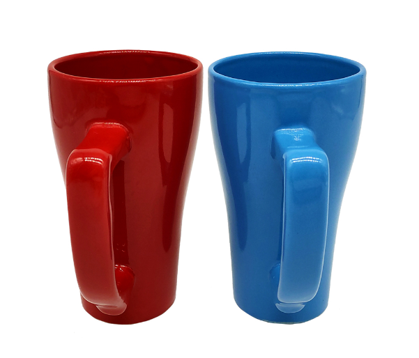 special shape handle ceramic cup