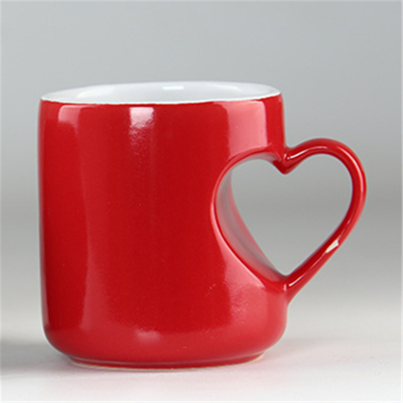 Special Shape heart ceramic cup